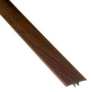 Perfil T PVC Tecno Cacau Marfim 1,80m Eucafloor