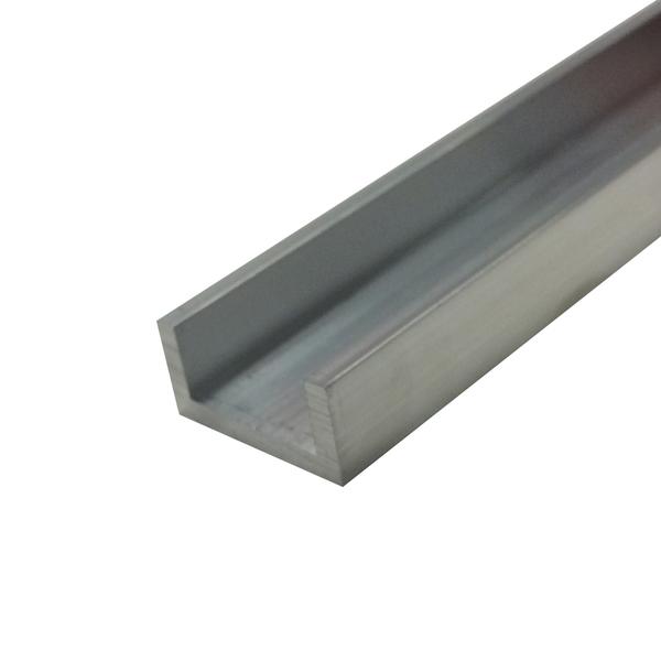 Perfil u aba desigual para porta de correr 1m alum nio for Perfil u aluminio leroy merlin