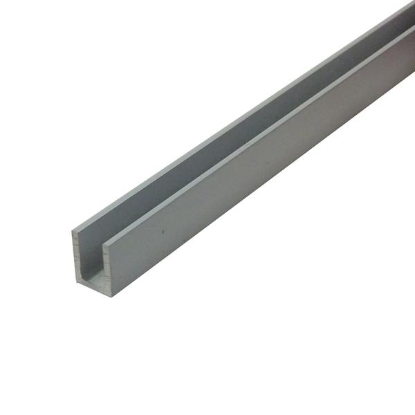 Perfil u aba desigual para porta de correr 3m alum nio - Perfil aluminio u ...