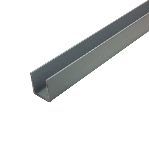 Perfil u aba igual para porta de correr 3m alum nio branco for Perfil u aluminio leroy merlin