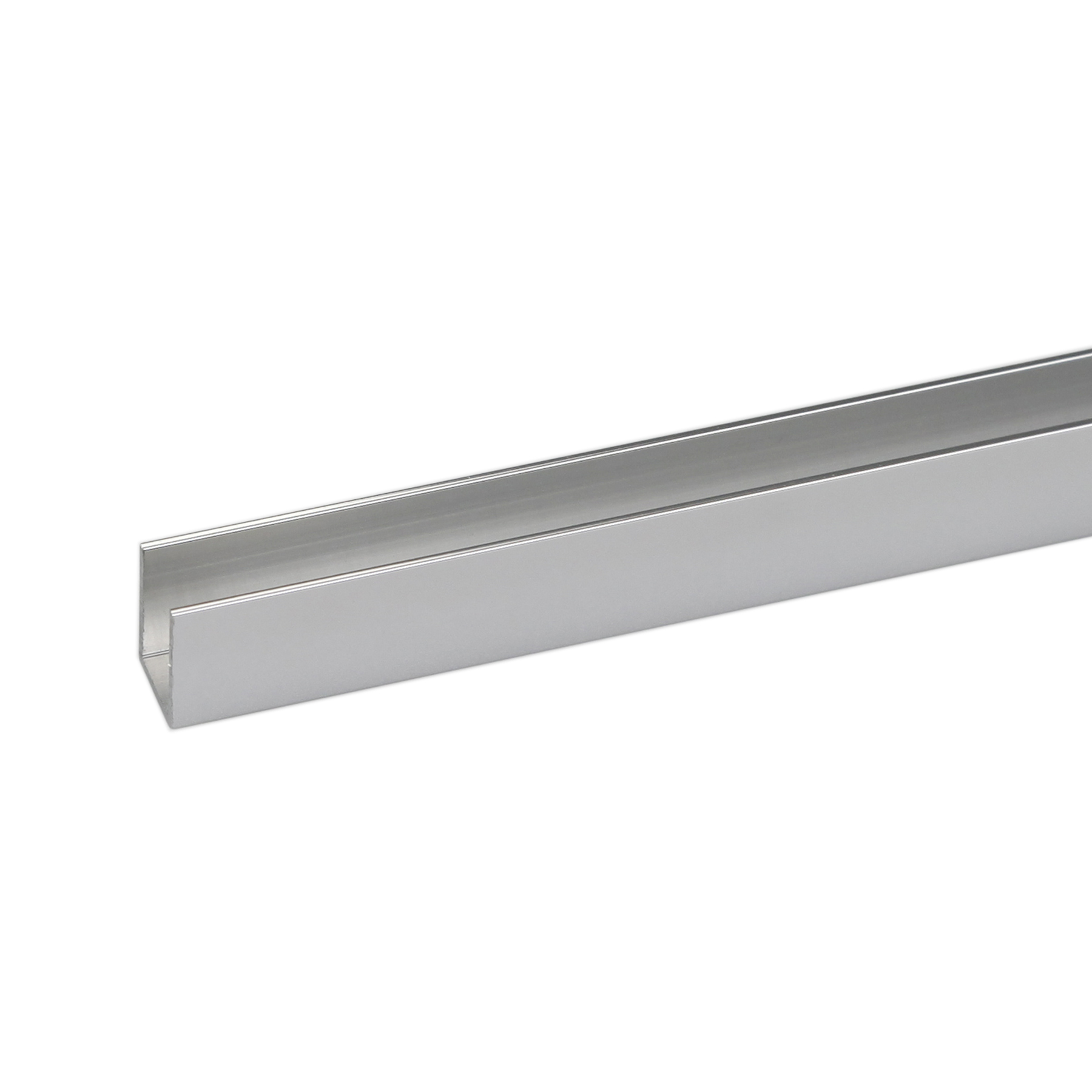 Perfil alum nio u 2mx10x10mm brilhante leroy merlin - Perfil de aluminio en u ...