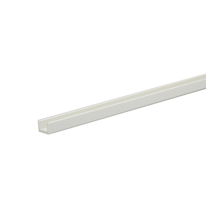 Perfil U PVC Acetinado 2,6mx1cm