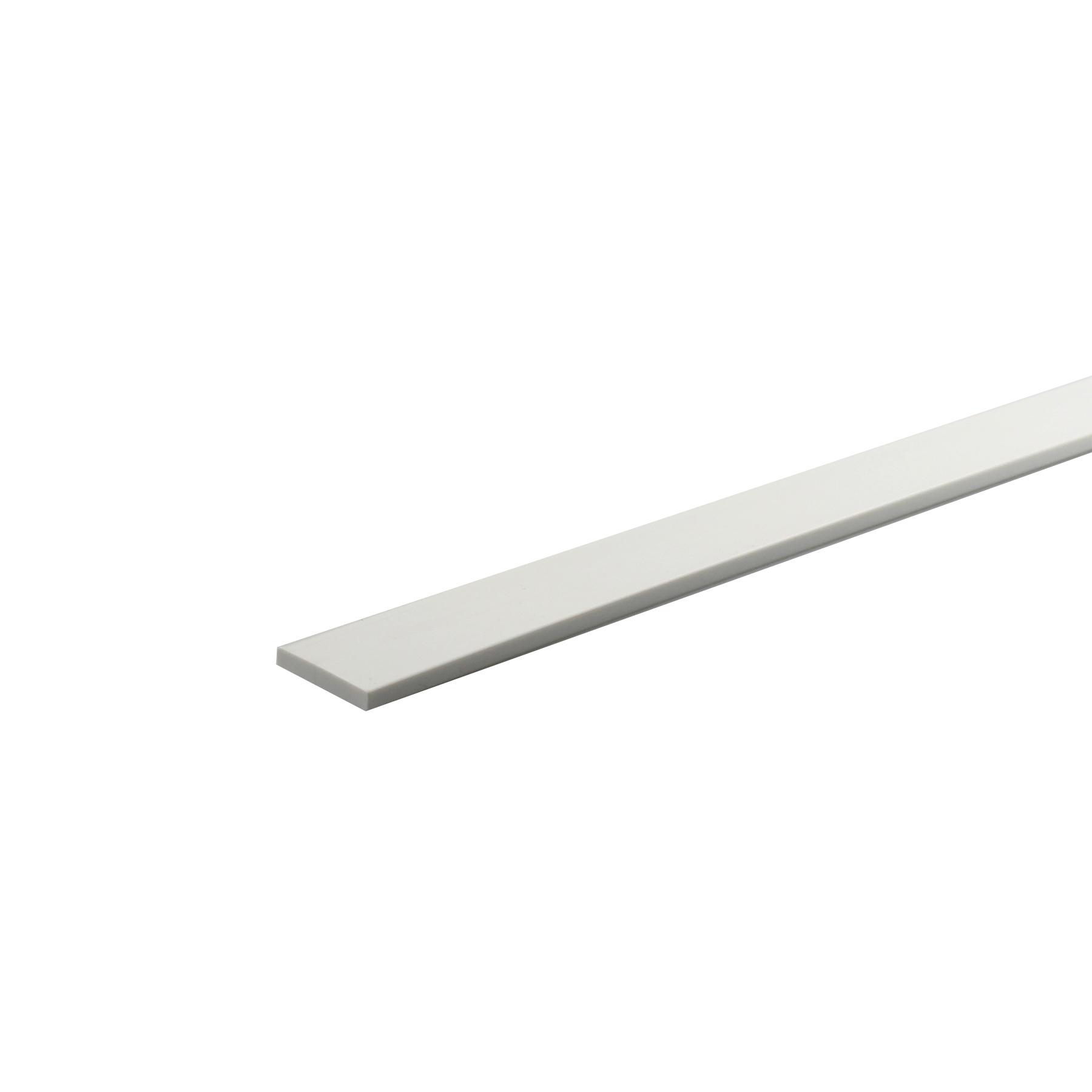 Perfil U PVC Porcelana 1mx1cm