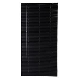 Persiana Horizontal PVC 1,6cm Preta 80x160cm
