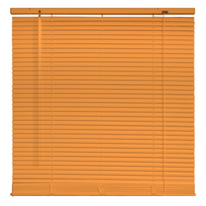 Persiana Horizontal PVC 25mm Laranja 1,60x1,60 Everblinds