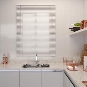 Persiana Horizontal PVC Off Branca 1,00x1,30m