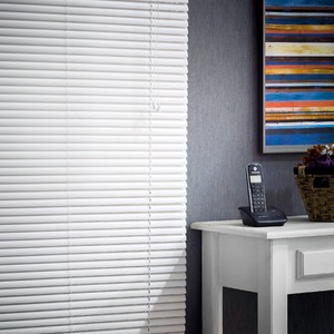 Persiana Horizontal Top Flex Trilho Metal Branca 2,20x1,00m