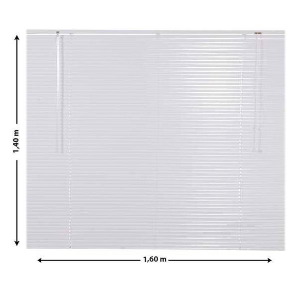 Persiana horizontal alum inspire nio branca 1 60x1 40m - Persianas alicantinas leroy merlin ...