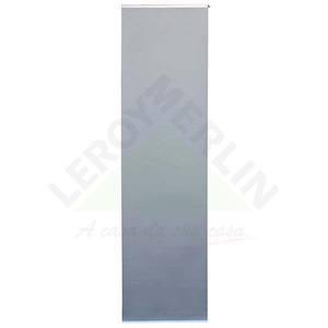 Persiana Painel Blackout Tecido 0,60x2,20m Cinza Tecnarte