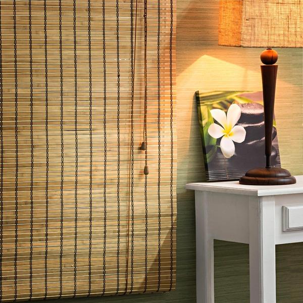 Persiana rol bambu caramelo 1 60x1 60m leroy merlin - Canas de bambu decorativas leroy merlin ...
