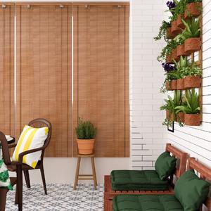 Persiana Rolô Bambu Externa Bege 0,80x2,20m