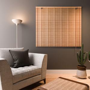 Persiana Rolô Bambu Externa Bege 1,40x1,60m
