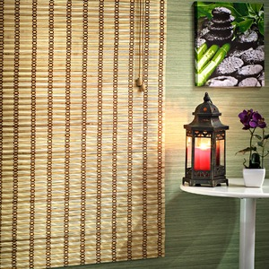 Persiana Romana Top Flex Bambu Caramelo 1,60x0,80m