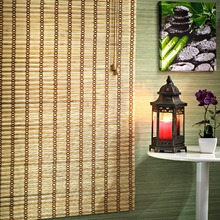 Persiana Romana Top Flex Bambu Caramelo 2,20x0,80m