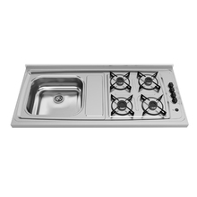 Pia de Cozinha com Fogão 4 Bocas 120x54cm Inox Ghel Plus