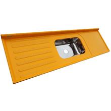 Pia de Cozinha Inox Amarelo Isocril 200X55cm