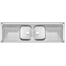 Pia de Cozinha Inox Brilhante Cinza 180cm