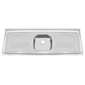 Pia de Cozinha Inox Polido Cinza Dubai 150cm
