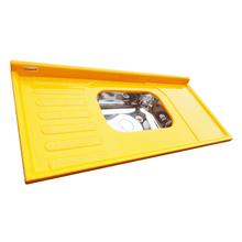 Pia de Cozinha Resina Amarela Corso 120x55cm
