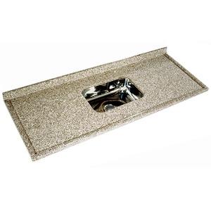Pia de Granito 14,5x58x150cm Marrom Granicon
