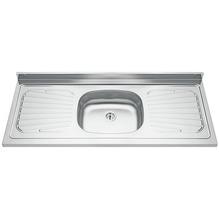 Pia para Cozinha de Inox Pré Polido Cinza Tramontina Raggi 1,20cm