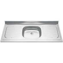 Pia para Cozinha de Inox Pré Polido Cinza Tramontina Raggi 1,50cm