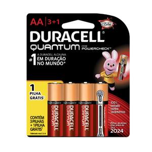 Pilha Alcalina AA 4 Unidade(s) Quantum Duracell