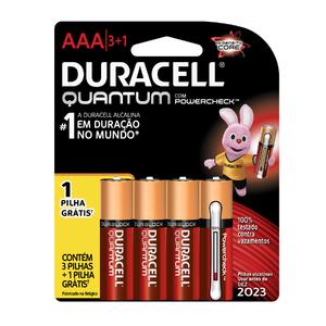 Pilha Alcalina AAA 4 Unidade(s) Quantum Duracell