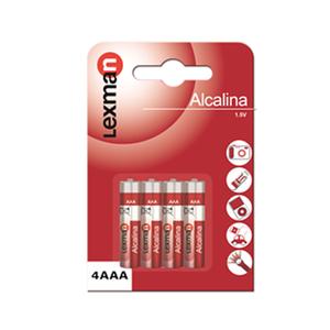 Pilha alcalina AAA Lexman