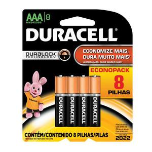 Pilha Alcalina Palito AAA Duracell