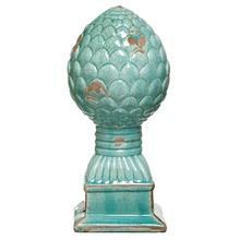 Pinha Cerâmica Escoreado 25x9,5cm Azul Cerâmica Novo Tempo