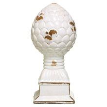 Pinha Cerâmica Escoreado 25x9,5cm Branco Cerâmica Novo Tempo