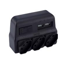 Benjamim com USB 2Pólos+Terra Force Line