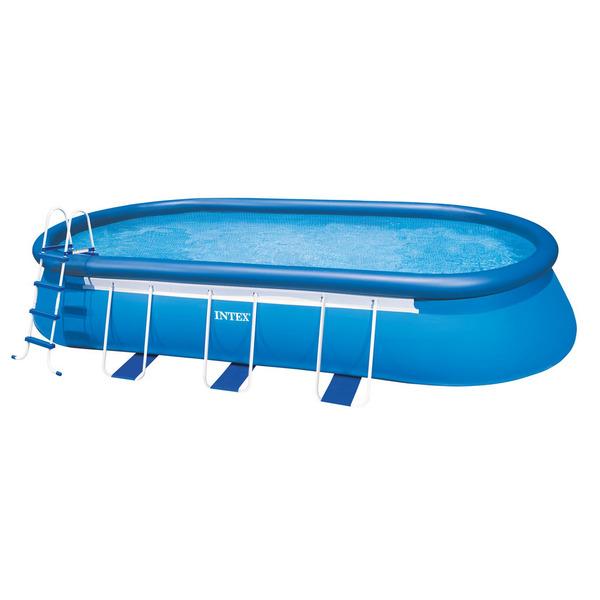 Piscina armar oval 16628l com escada capa forro e filtro for Filtro para piscina intex