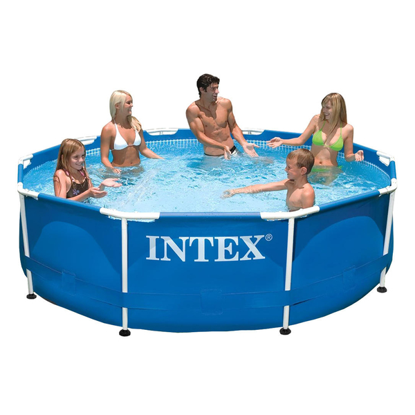 Piscina armar redonda 4485l intex leroy merlin for Alberca intex redonda