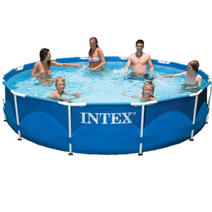 Piscina armar redonda 6503l intex leroy merlin for Alberca intex redonda