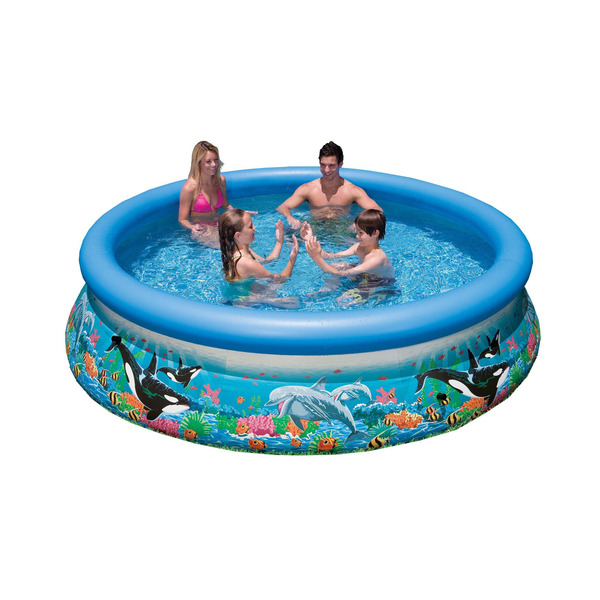 Piscina infl vel redonda oceano 3853l intex leroy merlin for Alberca intex redonda
