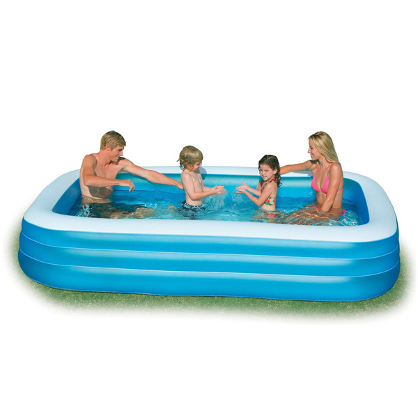 Piscina infl vel retangular familiar green 999l intex for Alberca familiar intex