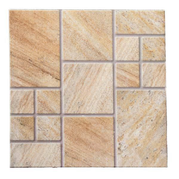 Piso cer mico esmaltado borda arredondada 52x52cm modelo for Pisos azulejos monterrey