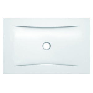 Piso Box Aço com Válvula 120x80x3cm Branco Superslim Celite