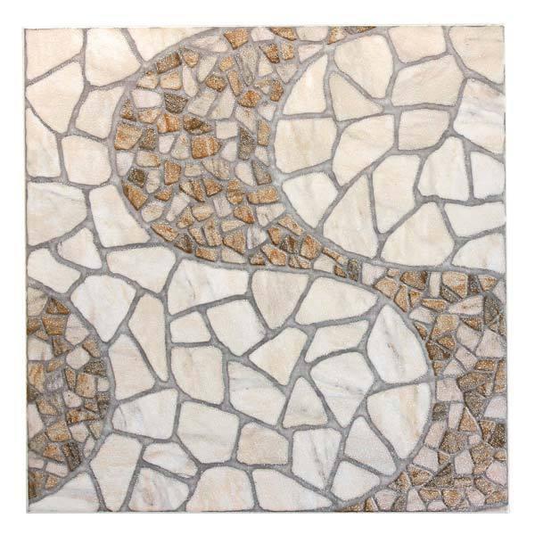 Piso cer mico esmaltado borda arredondada 44x44cm modelo for Restos de azulejos baratos