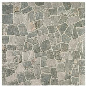 Piso Cerâmico Acetinado Borda Arredondado Toscano Cinza 61x61cm Ceral