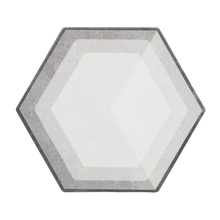 Piso Esmaltado Acetinado Borda Arredondada 17x23cm Cemento Artens