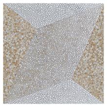 Piso Cerâmico Esmaltado Borda Arredondada 60x60cm modelo Mosaico Beige Geometric HD6124 Artens
