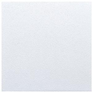 Piso Esmaltado Brilhante Borda Arredondada Quartzo Branco 47x47cm Pamesa