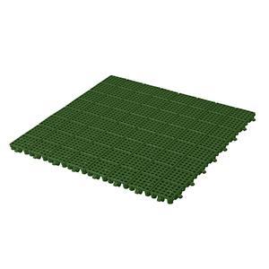 Piso Modular 50x50cm Verde Plástico Massol