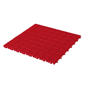 Piso Modular 50x50cm Vermelho Plástico Massol