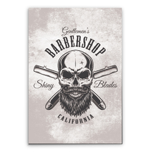 Placa Decorativa Barbershop California