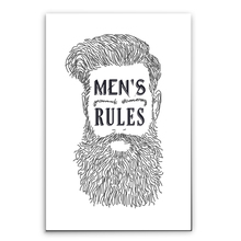 Placa Decorativa Mens Rules