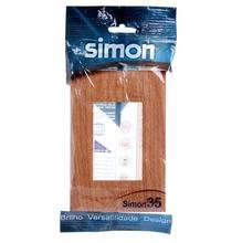 Placa 4X2 3Mod Dist Simon 35 Carvalho